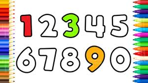 how to draw numbers 0 to 9 fun 123 numbers coloring pages art