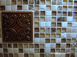 kitchen kitchen mosaic tile backsplash grapes stone medallions