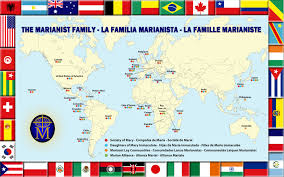 Map The United States by 2014 Marianist World Map The Marianists Marianist Province Of