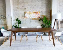 modern dining tables mid century modern dining table etsy