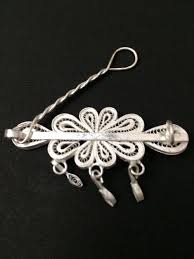 hair accessories online india buy silver filigree hair online in india by silver linings
