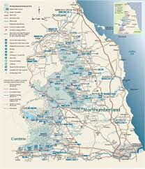 Map Of Scotland And England map of north east england and scotland coast coastline