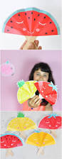 summer fruit paper fans with free printable adorable fruit craft