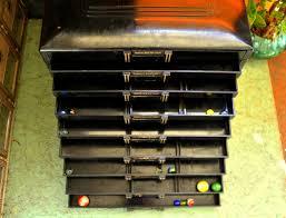 antique black dental cabinet 9 drawer organizer trubyte teeth