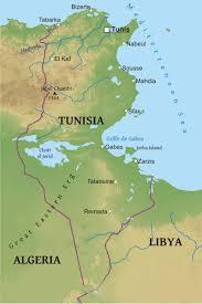 tunisia map maps of tunisia bizbilla