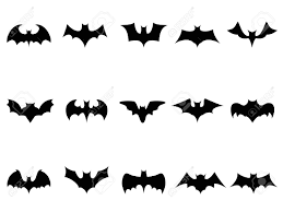 white and black halloween background isolated bat icons from white background royalty free cliparts