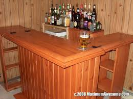 Building A Wood Desktop by Bye Bye Liver The Bar Is Finished How To Build A Bar Part 5