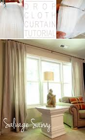 Short Curtain Panels by Beautiful Drop Cloth Curtains Tutorial Drop Cloth Curtains