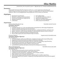 machine operator resume simple machine operator sle resume also ideas collection career