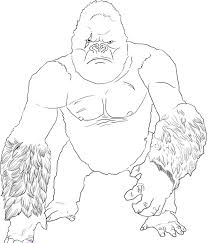 coloring pages king kong kids coloring