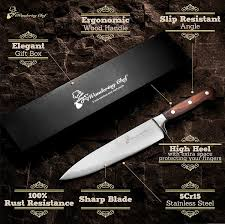Amazon Kitchen Knives Amazon Com Kitchen Knife 8 Inch Professional Chef U0027s Knives Carbon