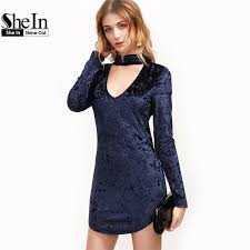 party dresses long sleeve club dress women deep v neck cut