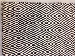 tappeto etnico tappeto geometrico casa collection bianco e nero