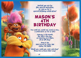 Invitations Cards Free The Lorax Party Invitations And Thank You Cards Free Download