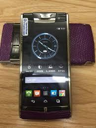 vertu phone vertu signature touch purple lizard leather 4 7 inch android copy