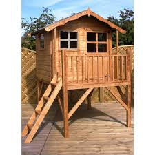 mercia poppy wooden playhouse wendyhouse with tower