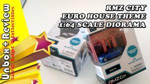 euro house rmz city diorama euro house 1 64 scale unbox review youtube