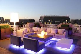 exterior wonderful outdoor living spaces in roof top decorated