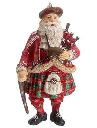 scottish santa with bagpipes outlander