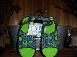 ocean pacific op boys skull sandals size xl 11 12 kids beach wear