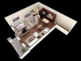 1 open floor plans 1 bedroom 1 bathroom apartment interior design ideas