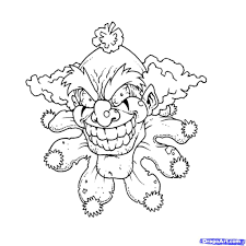 halloween scarylloween drawings clown coloring pages colorine