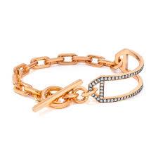 rose link bracelet images Saxon 18k elongated chain link bracelet walters faith jp