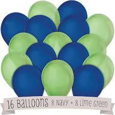 baby shower balloons navy and lime green baby shower balloons 16 ct