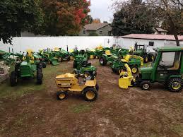 vintage john deere 100 lawn u0026 garden tractor w mower u0026 snow plow