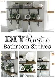 Diy Bathroom Shelving Ideas Diy Rustic Bathroom Shelves Hometalk