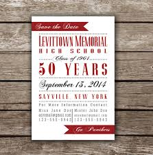 Reunion Invitation Cards Printable Save The Date Card For Class Reunion