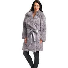 la s luxury fluffy dressing gown slenderella womens mongolian