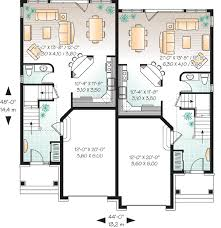 duplex floor plans for narrow lots plan w21486dr attractive duplex with covered entry e