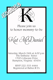monogram baby shower invitations any letter any color scheme