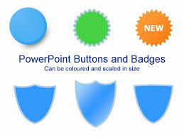powerpoint buttons and badges