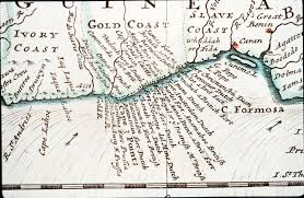 Ghana Africa Map Old Map Of Gold Coast Cape Coast Castle
