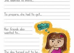 sentence writing prompts worksheet education com