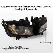 kt headlight for honda cbr600rr 2013 2016 led optical fiber
