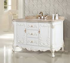 Bathroom Vanities With Marble Tops Art Antique 51 Inch Single Sink Bathroom Vanity Natural Marble Top