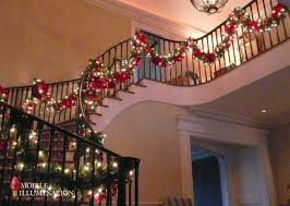 Handrail Christmas Decorations Changing Your Christmas Lighting And Decor Design Mobile