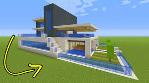 modern house minecraft minecraft tutorial how to make a big modern house youtube