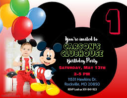 mickey mouse birthday invitations mickey mouse birthday invitation template postermywall