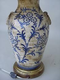 Italian Vase C 1920 Italian Ceramic Blue And White Lamp For Sale Antiques