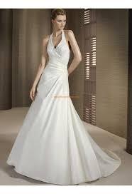 robe de mari e tours robe de mariée pas cher bretelle autour de cou perles satin