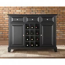 sideboard cabinet with wine storage crosley newport buffet server sideboard cabinet with wine storage
