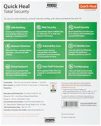 quick heal total security 1 pc 3 years dvd plastic amazon