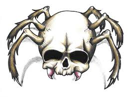 spider skeleton tattoo design