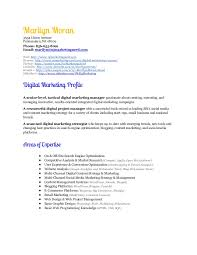 Sample Resume For Marketing Manager by Digital Marketing Manager Resume Marilyn Moran
