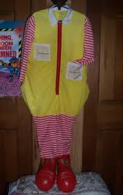 Ronald Mcdonald Halloween Costume Free Ronald Mcdonald Halloween Costume Toddler Size Halloween