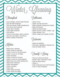 House Cleaning List Template Winter Cleaning It S A Thing Giveaway Free Printable